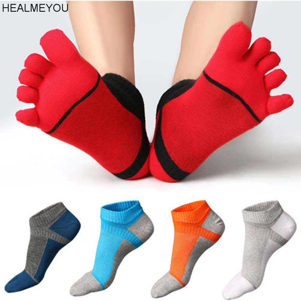 1 Pair of Men's Short Socks Toe Socks 5 Five Fingers Shoes 5 Colors