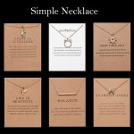 18 Style Fashion Geometry Round Necklace Sun Leaf Cat ear Pendant Gold Chain Charm Necklace for Women Bijoux Jewelry Accessories