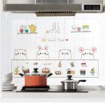 60*90cm Kitchen oil-proof wall stickers waterproof tile cooker high temperature cabinet range hood refurbished wallpaper