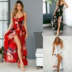 European and American women's best selling Explosive models spring and summer large size dress Print long paragraph large swing