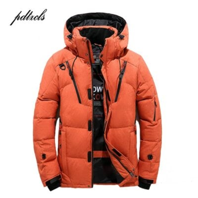 New High Quality Winter Warm Thicken Zipper Coats Men's Hooded Parkas Casual Male Slim Zipper Multi-Pockets Overcoat Jackets