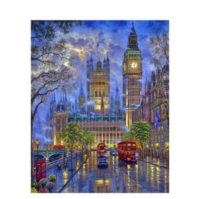 Painting By Numbers DIY Dropshipping 50×65 60x75cm London Building Big Ben Landscape Canvas Wedding Decoration Art picture Gift