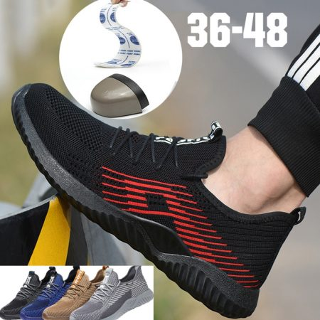 Safety Shoes With Metal Toe Men Immortal Indestructible Ryder Shoe Work Shoes With Steel Toe Work Boots Breathable Sneakers